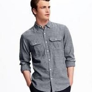 OLD NAVY men's slim fit buttons down shirt